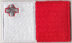 Malta Embroidered Flag Patch, style 04.
